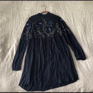 Parker long sleeved mini dress